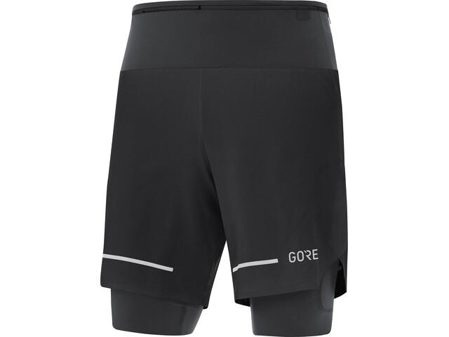 GORE WEAR Ultimate 2in1 Shorts Men, negro